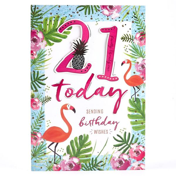 Beautiful card images for the 21st birthday