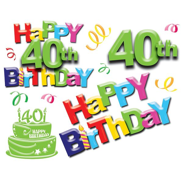 40th Birthday Images Graphics Free