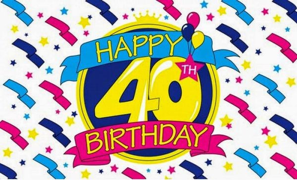 Zingy 40th birthday graphics images free