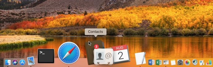 Dragging Files onto Contacts in Dock