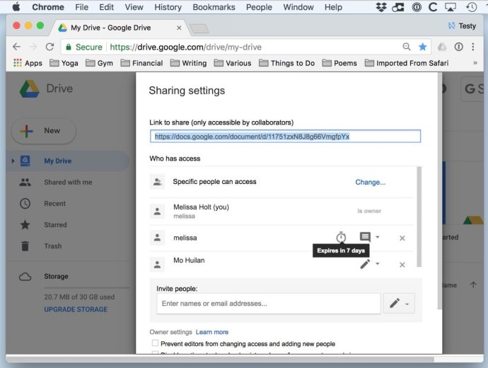 See Upcoming Expiration Date for Shared Google Drive File