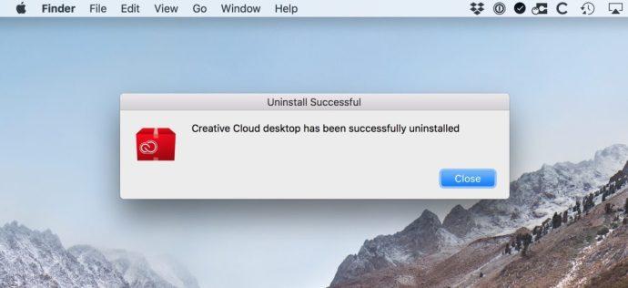 creative cloud uninstalled