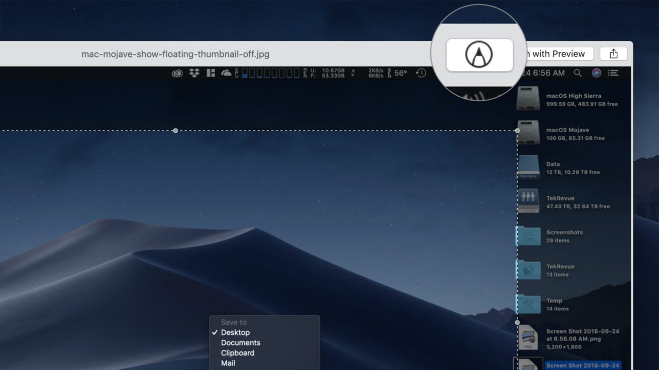How to Turn Off macOS Mojave Screenshot Preview Thumbnails