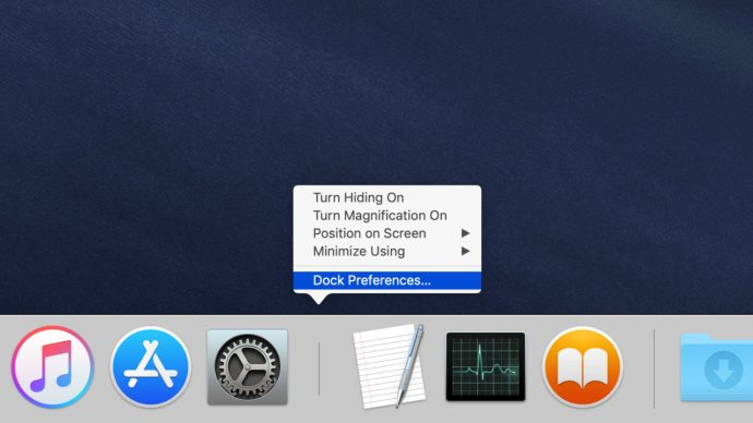 macos mojave dock preferences menu