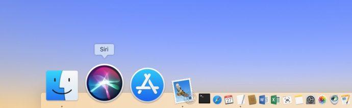 Siri in Dock on Mac