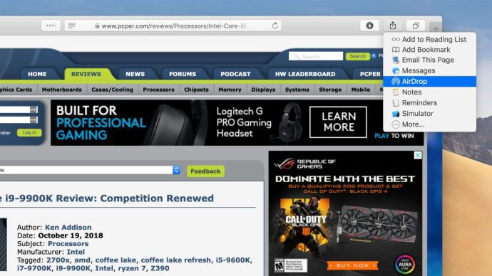 Airdrop Safari Mac Website