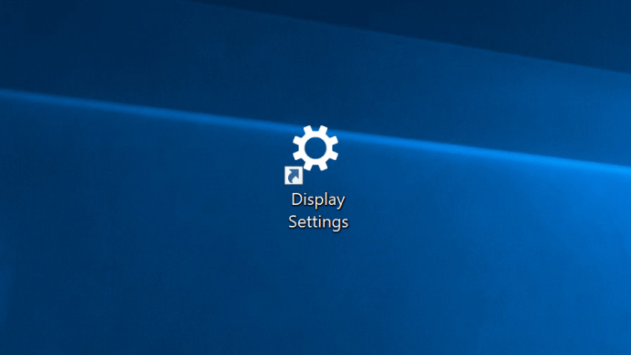 custom settings shortcut windows 10
