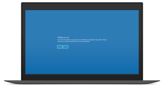 windows 10 login message