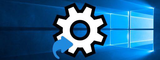 windows 10 settings shortcut