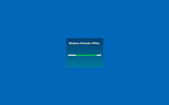 windows defender offline boot screen