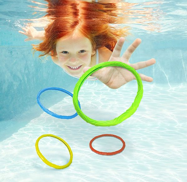 Aqua Dive Rings Pool Toy 6 Ring Game Set