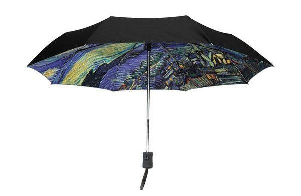 Outer Black Umbrella Van Gogh's Starry Night
