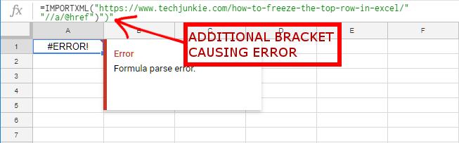 Google Sheets Formula Parse Error – How To Fix
