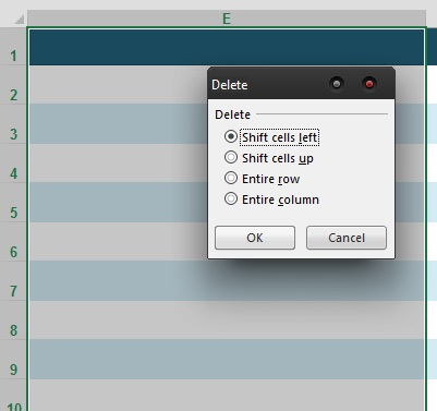 How To Delete All Blank Columns in Microsoft Excel