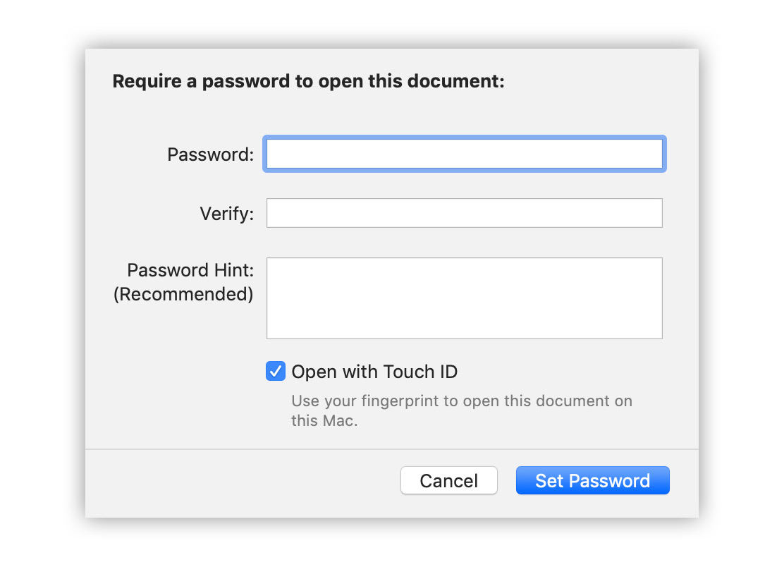 How to Password Protect a Pages Document
