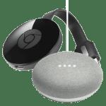 Google Home Mini and Google Chromecast