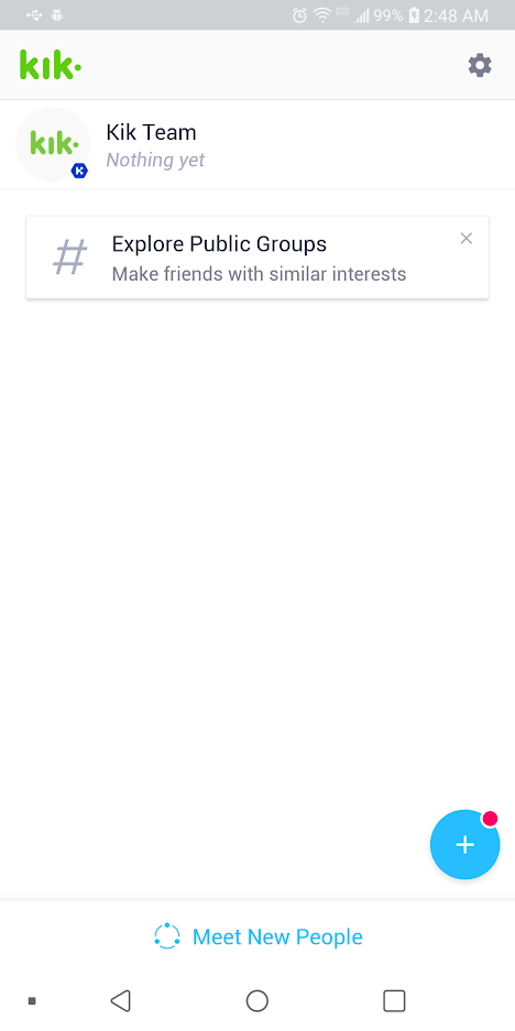 Chat room for kik