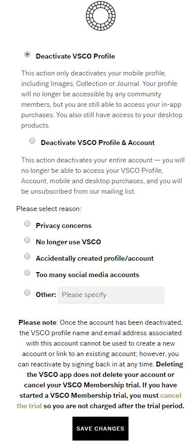 How To Delete Your VSCO Account