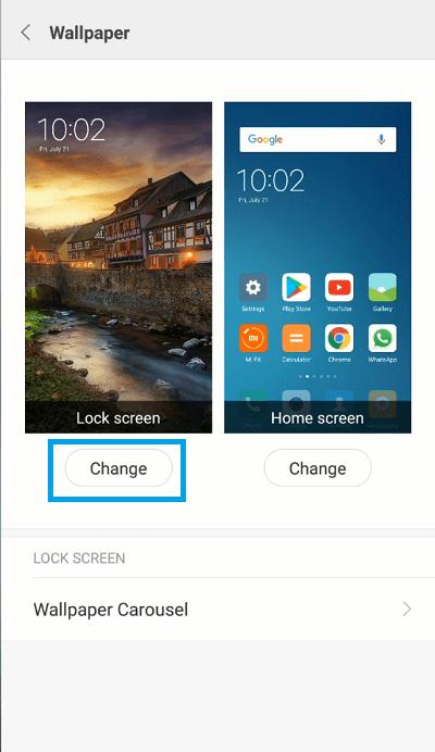 Xiaomi Redmi Note 3 – How to Change Lock Screen