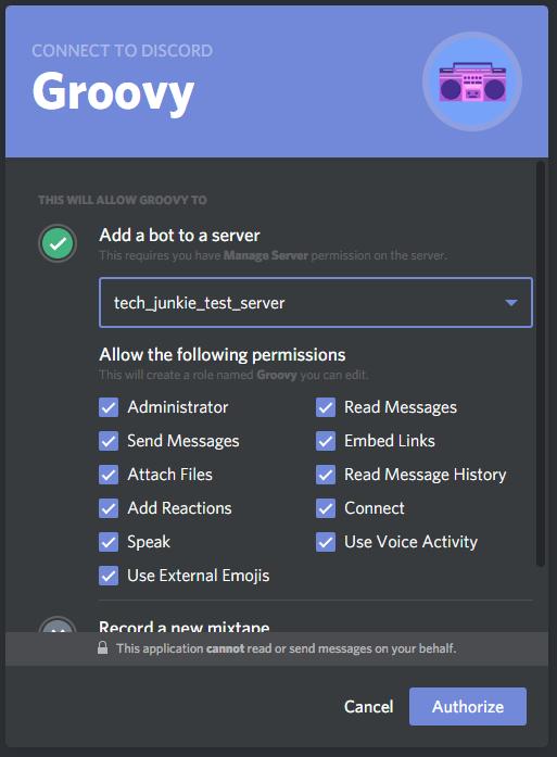 How to setup music bot on discord