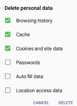 Galaxy J2 How to Clear Chrome Cache