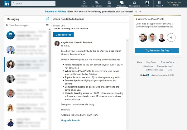 Como saber se alguém leu sua mensagem no LinkedIn
