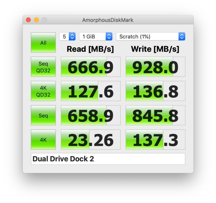 owc drive dock usb-c speeds raid