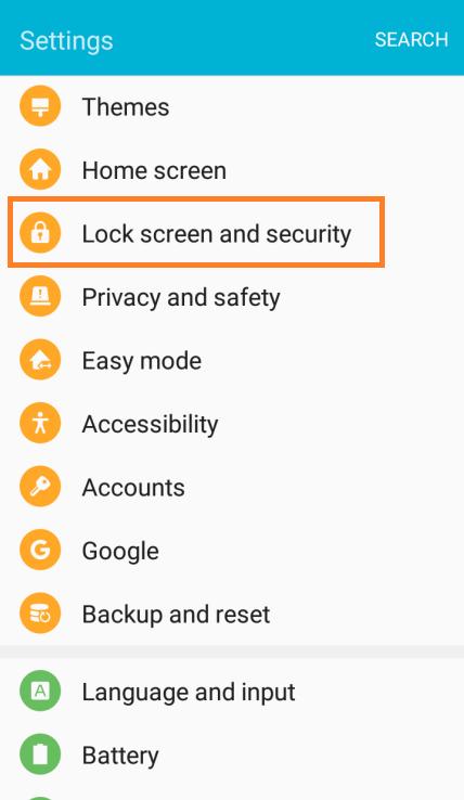 Galaxy J5 Change Lock Screen