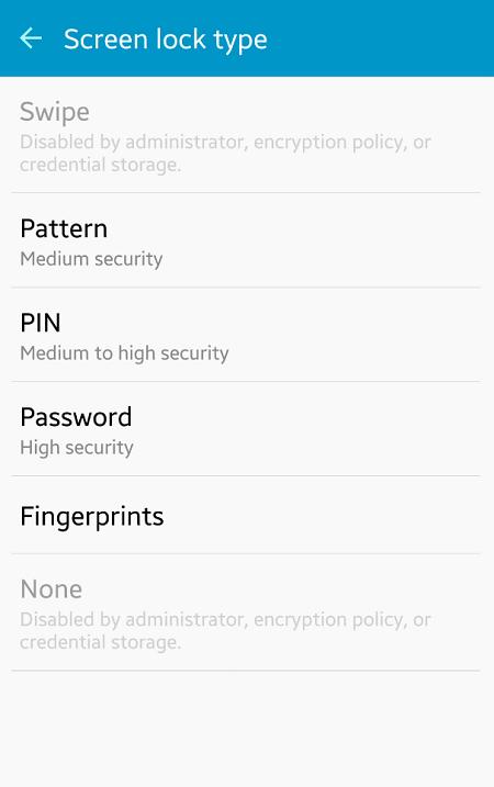 Samsung Galaxy S6 Change Lock Screen
