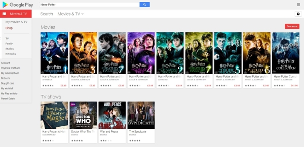 where to watch harry potter online free