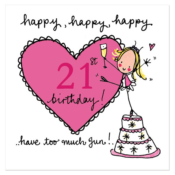Счастливые 21-ые поздравительные открытки