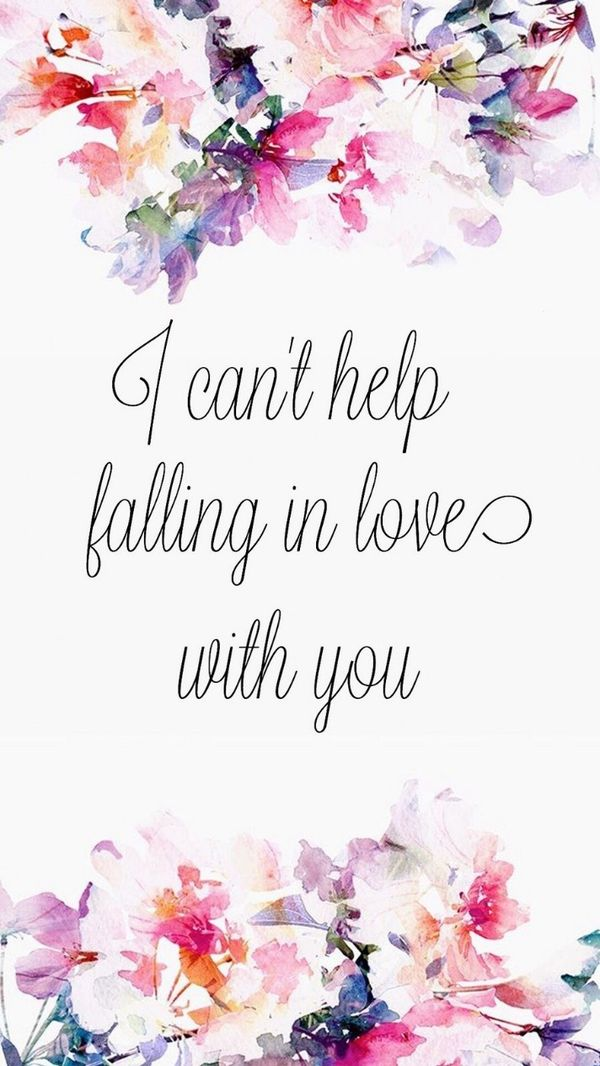 i can not help falling in love with you
