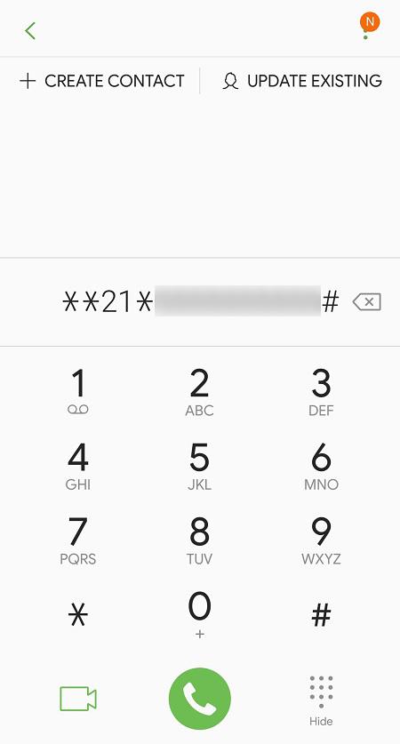 Desvío de llamadas en ATT