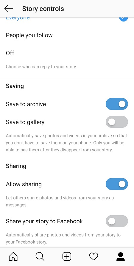 Instagram Save To Archive