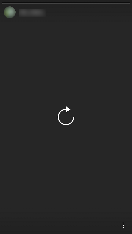Instagram story error