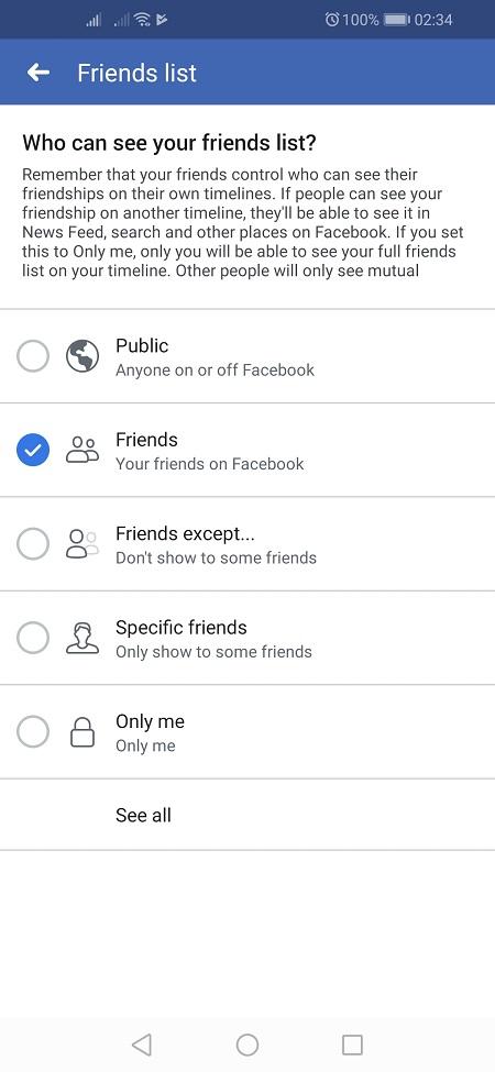 Mobile Friends List