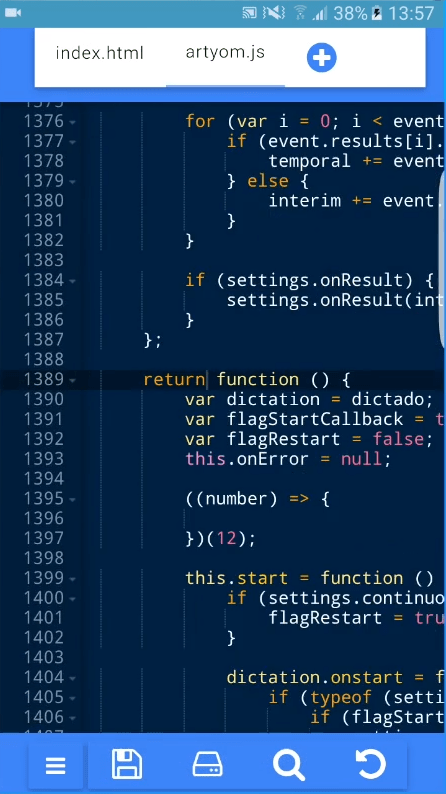 Our Code Editor