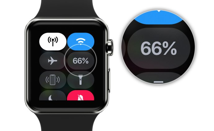 apple watch control center battery