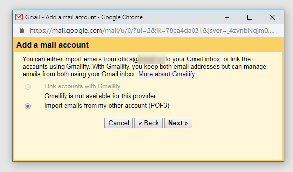 how to forward godaddy domain email to gmail