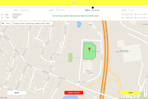 Snapchat Geofilter İsteğe Bağlı