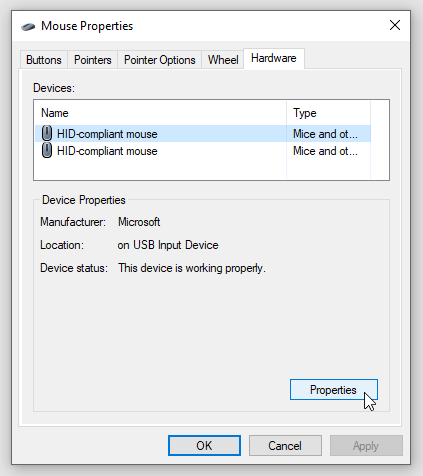 stop mouse waking windows