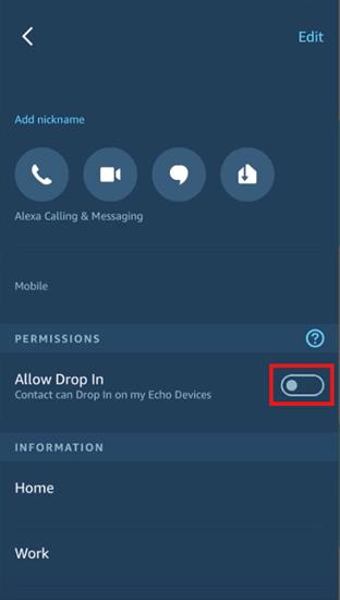 Alexa allow drop in