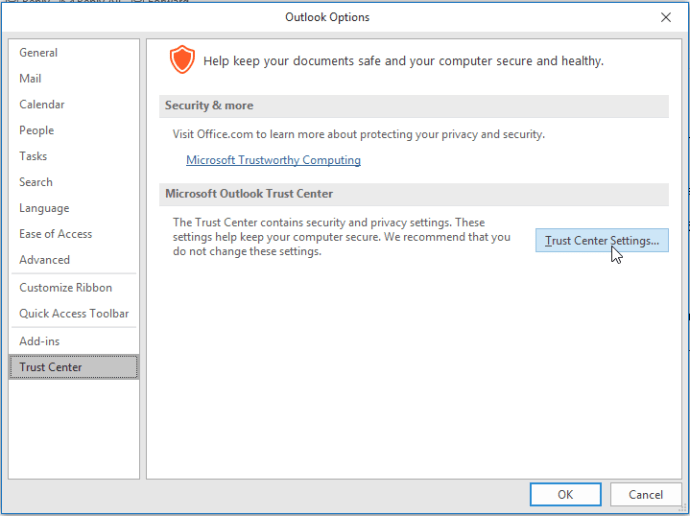 Automatically Download Images in Outlook