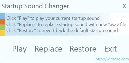 Change Startup Sound in Windows 10
