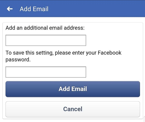 How to confirm email address in facebook