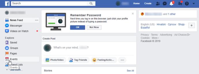 Дни рождения друзей на Facebook