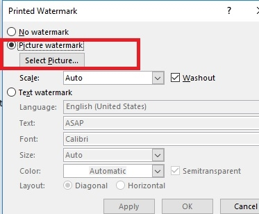 How to insert a watermark in Word