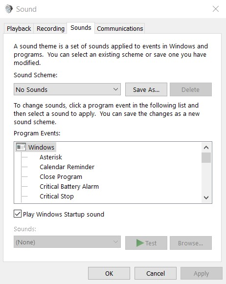 How to Change Startup Sound in Windows 10