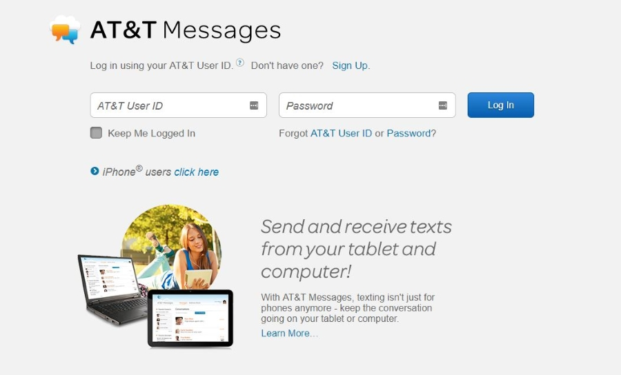can you access your text messages online