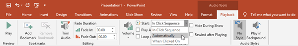 Play Audio in PowerPoint automatically